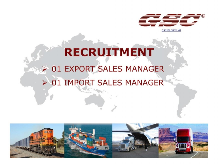 GSC Recruitment SALES MANAGER page 001